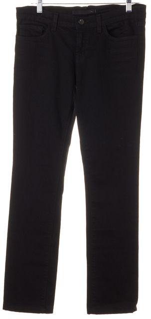 J BRAND #3912 Jett Black Stretch Cotton Mid-Rise Skinny Jeans
