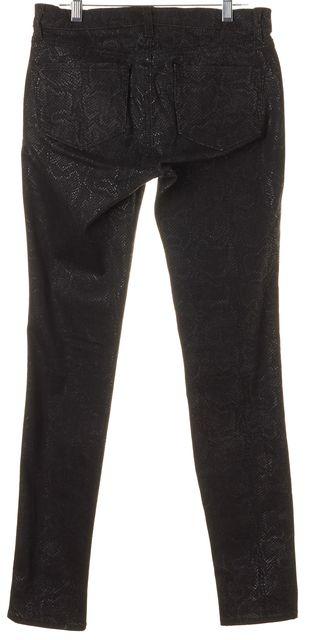 J BRAND #901 Black Matte Boa Coated Denim Leggings Jeans