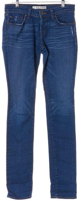 J BRAND #912 Blue Medium Wash Distressed Denim Pencil Leg Skinny Jeans
