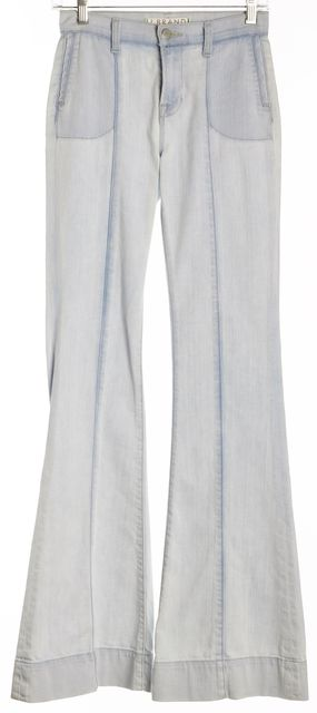 J BRAND Blue Bleached Flare Jeans