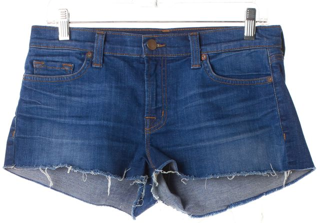 J BRAND Blue Cut-Off Denim Short Shorts