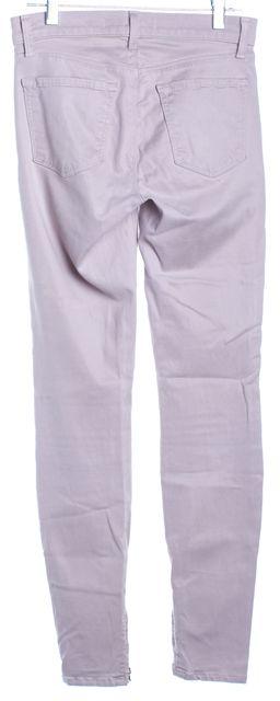 J BRAND Light Pale Purple Cropped Ankle Zip Skinny Jeans
