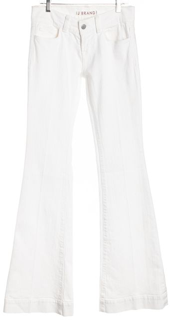 J BRAND White Low-Rise Flare Jeans