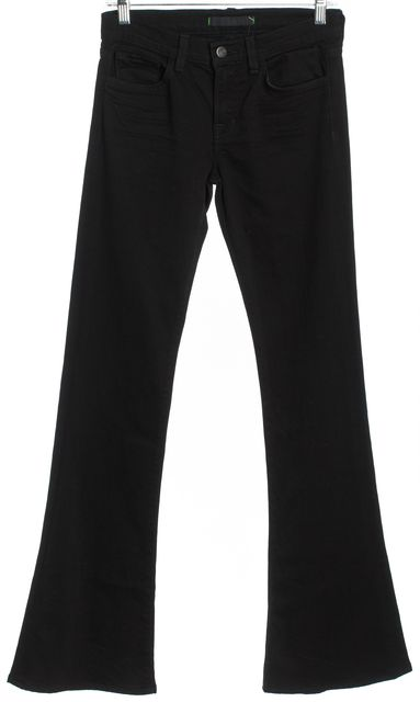 J BRAND Black Mid-Rise Flare Jeans