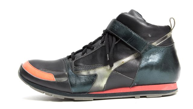 JIL SANDER Multi-Color Leather Lace-Up High-Top Sneakers