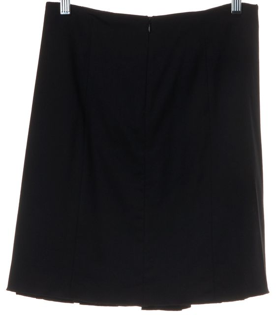 JIL SANDER NAVY Black Pleated Above Knee Length Skirt