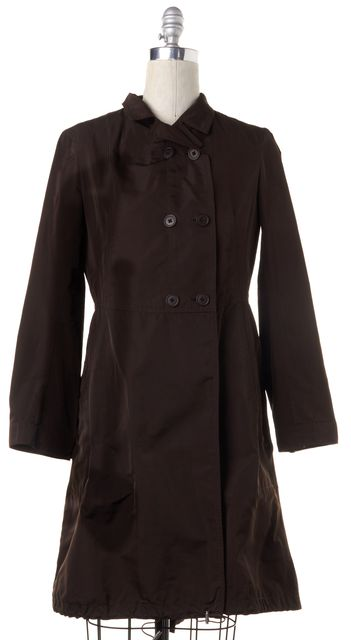 JIL SANDER Brown Double Breasted Lightweight Trench Coat