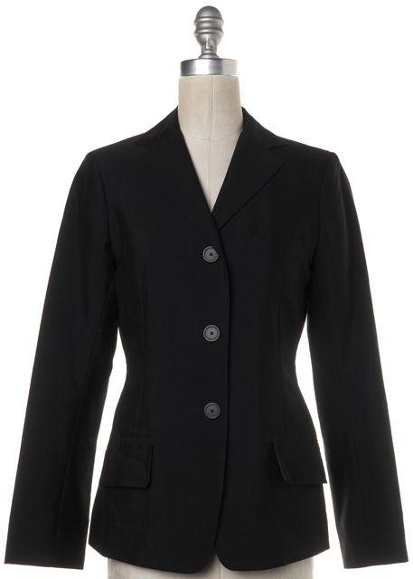 JIL SANDER Black Classic Casual Wool Two Button Blazer w Pockets