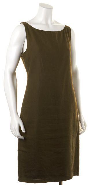 JIL SANDER Green Sleeveless Knee Length Sheath Dress