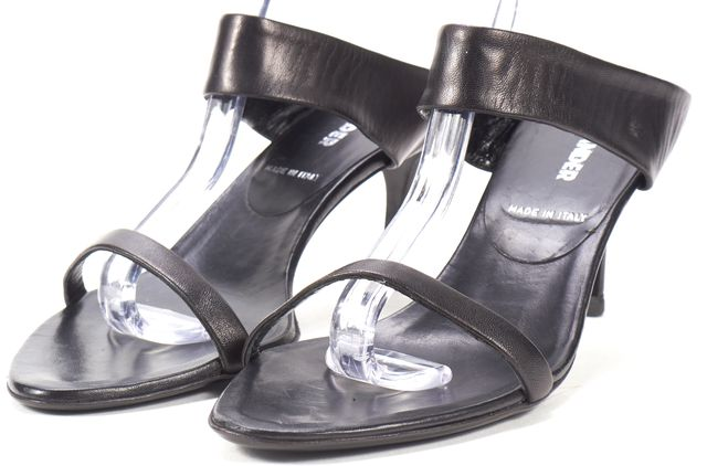 JIL SANDER Black Leather Mule Sandal Low Heels