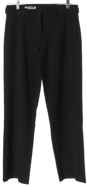 JIL SANDER Black Wool Dress Pants US 6 FR 38
