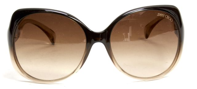 JIMMY CHOO Brown Acetate Frame Brown Gradient Lens Round Dahlia Sunglasses