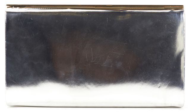JIMMY CHOO Sliver Gold Metallic Patent Leather Clutch