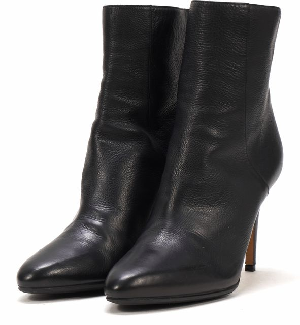 JIMMY CHOO Black Leather Ankle Booties