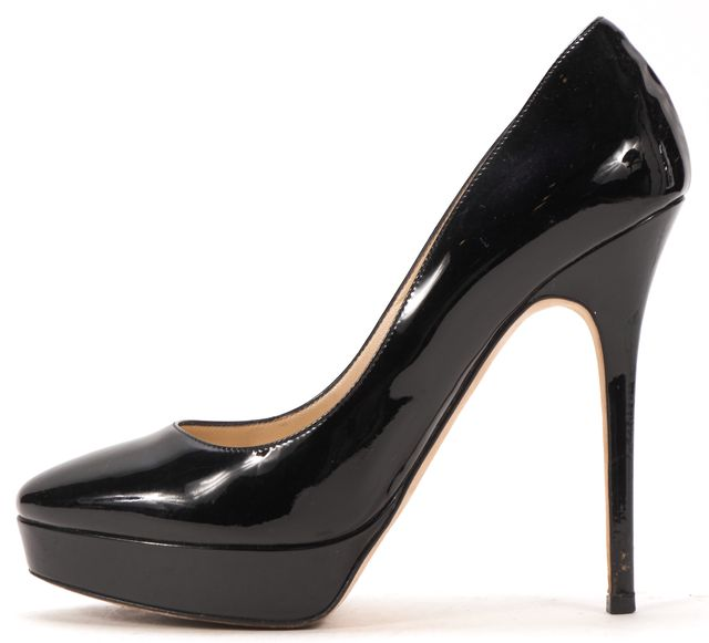 JIMMY CHOO Black Patent Leather Platforms Heels
