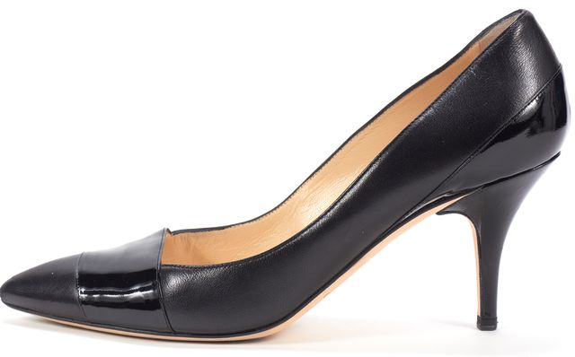 JIMMY CHOO Black Patent Leather Rachel Pointed Toe Pumps