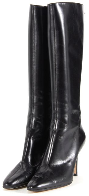 JIMMY CHOO Black Leather Knee-high Boot Tall Boots