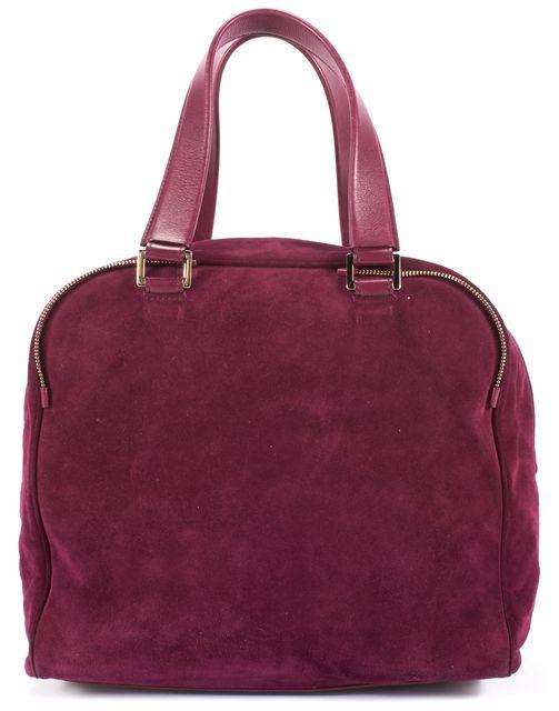 JIMMY CHOO Red Wine Suede Leather Gold Hardware Shoulder Bag
