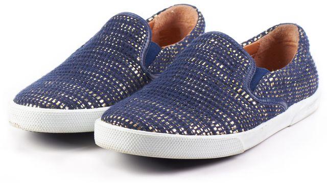 JIMMY CHOO Navy Blue Gold 153 Demi WFB Slip-on Sneakers