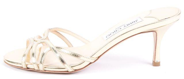 JIMMY CHOO Gold Slip-on Pump Heels Size US 6.5 IT 37