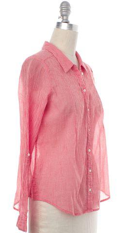 JOIE Red Plaid Button Down Cotton Shirt