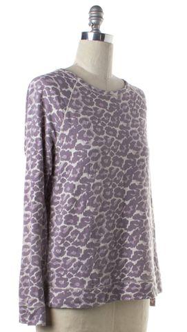 JOIE Purple Leopard Print Top
