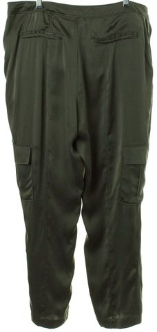 JOIE Green Silk Cargo Casual Pants
