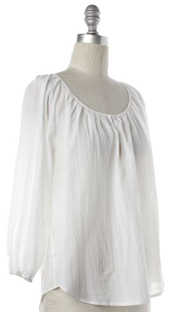 JOIE White Sheer Blouse