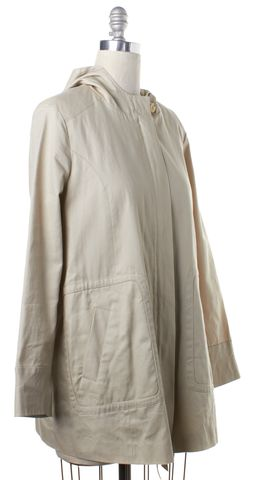 JOIE Ivory Zip Up Hooded Jacket