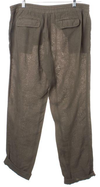 JOIE Green Linen Casual Pants