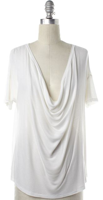 JOIE White Draped T-Shirt
