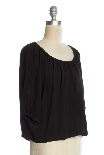 JOIE Black Silk Blouse Top