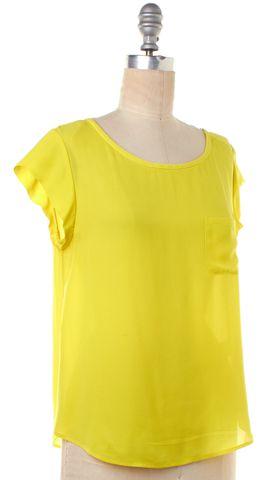 JOIE Yellow Silk T-Shirt