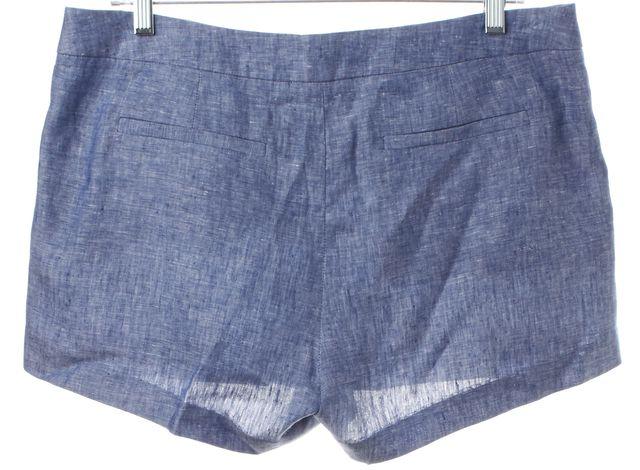 JOIE Blue Linen Casual Shorts