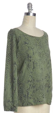 JOIE Green Gray Snake Print Sweatshirt
