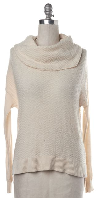 JOIE Ivory Wool Cashmere Knit Cowl Neck Sweater