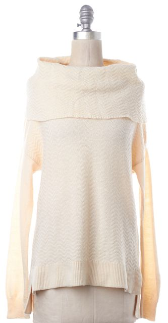 JOIE Ivory Wool Knit Cowl Neck Sweater