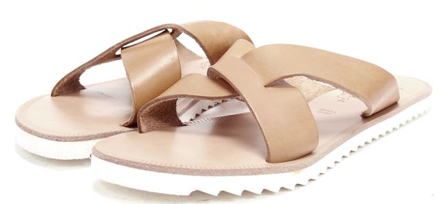 JOIE Brown Leather Sandals
