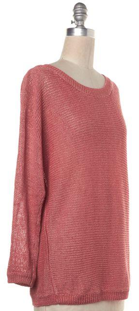 JOIE Salmon Pink Linen Crewneck Sweater