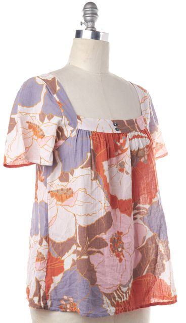 JOIE Multi-Color Floral Cotton Top