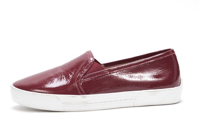 JOIE Red Patent Leather Slip On Sneakers
