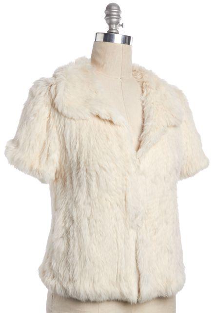JOIE Ivory Rabbit Fur Jacket