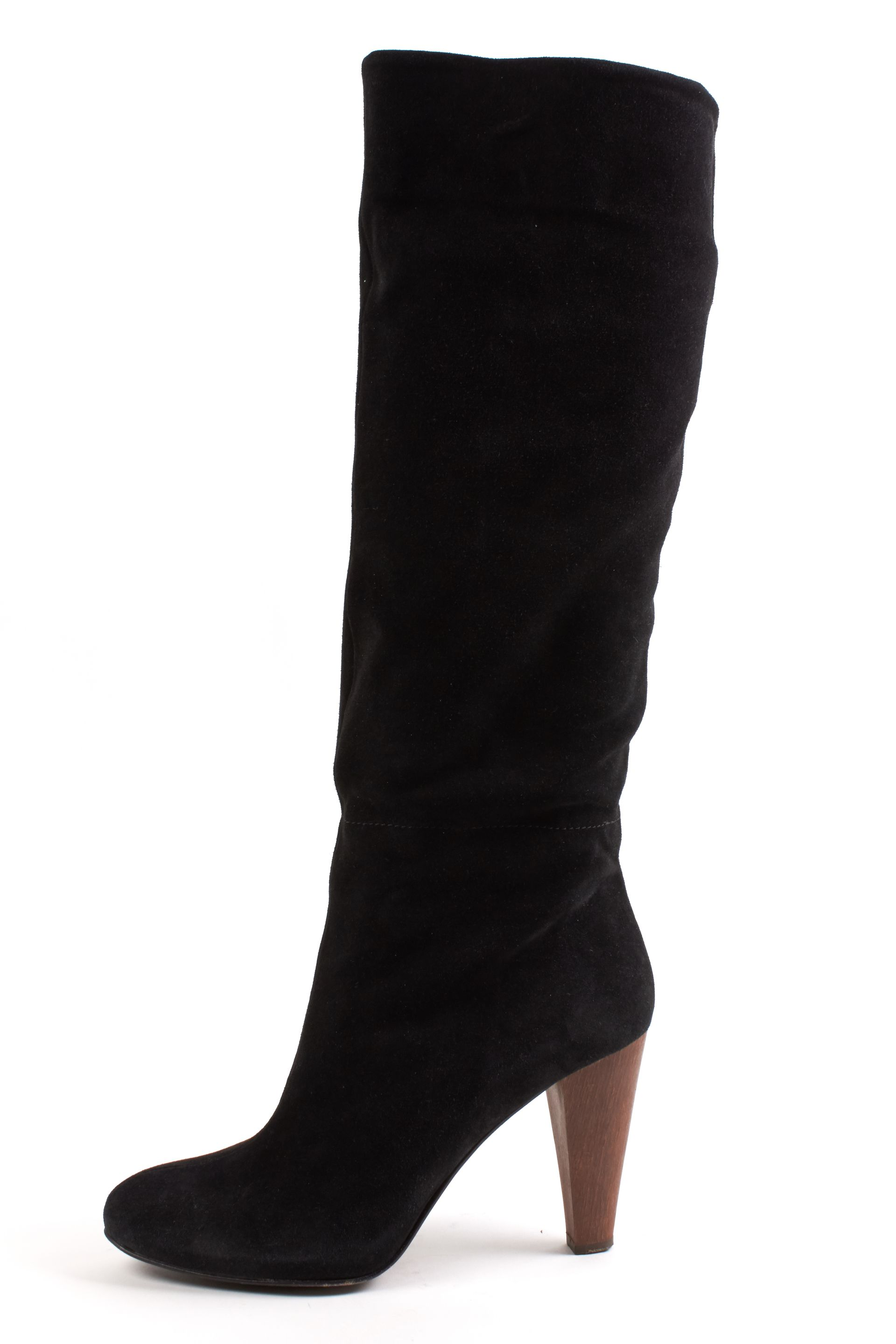 Joie Black Suede Pumps Knee-High Boots | Material World