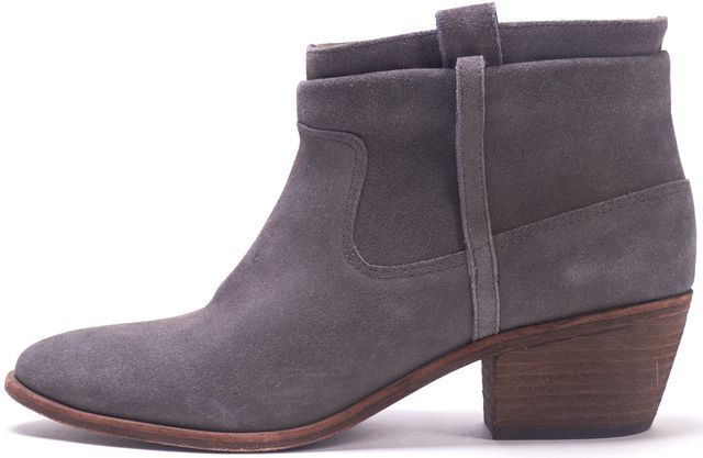 JOIE Gray Suede Leather Ankle Boots