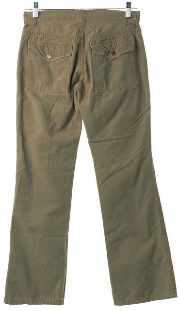 JOIE Army Green Casual Straight Leg Cargo Pants