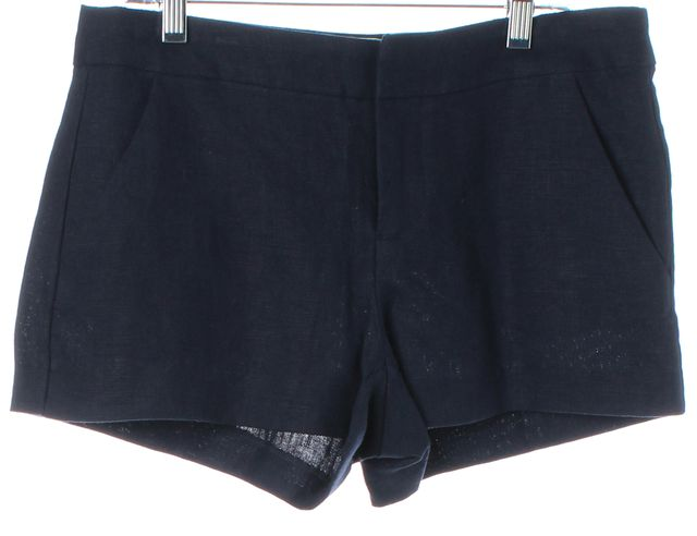 JOIE Dark Navy Blue Linen Merci Casual Shorts