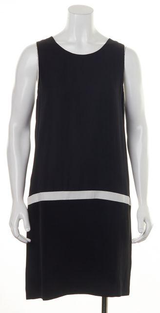 JOIE Black Caviar Porcelain Silk Sleeveless Walden Shift Dress