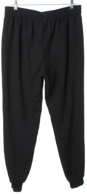 JOIE Black Elastic Waist Pleated Jogger Casual Pants