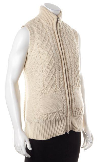 JOIE Beige Cable Knit Cashmere Vest
