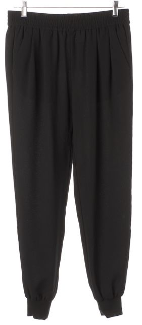 JOIE Black Pleated Elastic Waist Jogger Casual Pants
